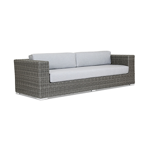 Emerald II Sofa With Cushions In Canvas Granite With Self Welt