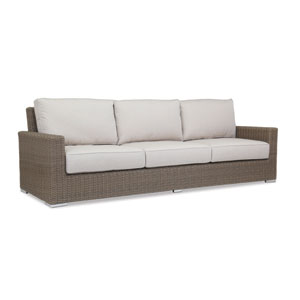Coronado Sofa with cushions in Canvas Flax with self welt