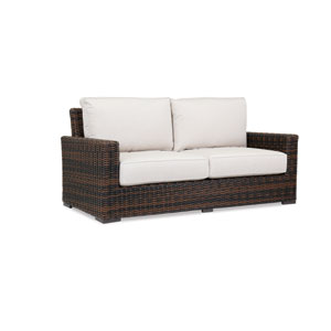 Montecito Loveseat with cushions in Canvas Flax with self welt