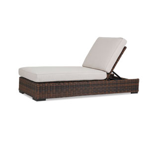 Montecito Adjustable Chaise with cushions in Canvas Flax with self welt
