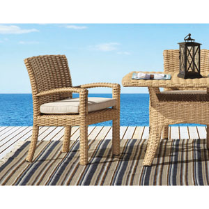 Leucadia Summer Wheat 84-Inch Boat Shaped Table