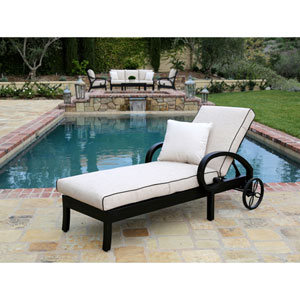 Monterey Canvas Chaise Lounge