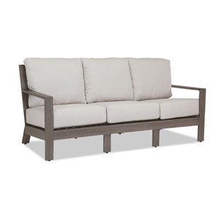 Laguna Sofa with Cushions in Canvas Flax with Self Welt