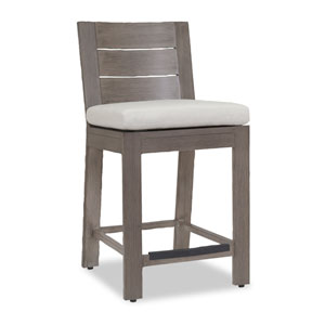 Laguna Barstool with Cushions in Canvas Flax with Self Welt