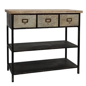 Metal and Wood Hall Table