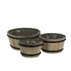 Set Of Three Round Planter