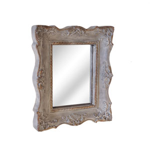 Resin Framed Decorative Mirror Grey