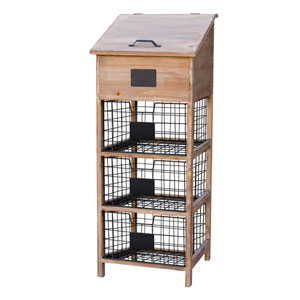 Wood Cabinet with Baskets