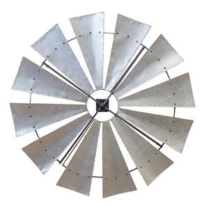 Metal 46 In. Windmill Décor