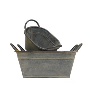 Metal Bucket, Set of Three
