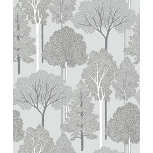 Ellwood Silver Wallpaper