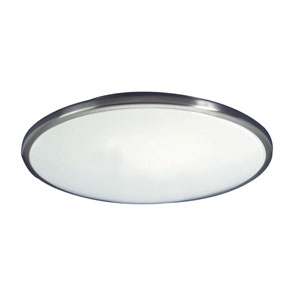 Capri Brushed Nickel One-Light Flush Mount Light Fixture