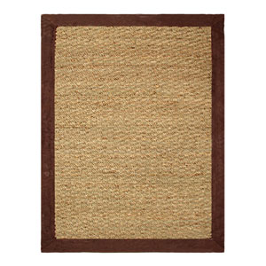 Seagrass Chocolate Rectangular: 5 Ft. x 7 Ft. Rg
