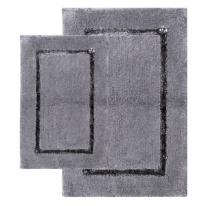 Greenville Pewter Two-Piece Bath Rug Set
