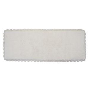 Crochet Ivory 22-Inch x 60-Inch Bath Runner