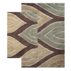 Davenport Tan Two-Piece Bath Rug Set