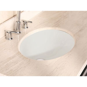 D Oval Undermount Sink In Biscuit Color