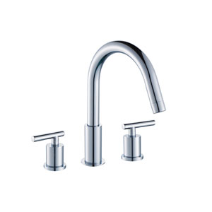 16.5-in. W CUPC Round Undermount Sink Set In White - Chrome Hardware With 3 Hole 8-in. CUPC Faucet - Overflow Drain Included