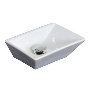 12-in. W Above Counter White Vessel Set For Deck Mount Drilling - Faucet Included
