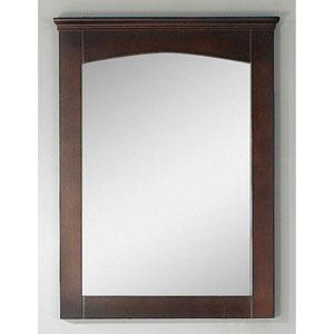 24-in. W X 31.5-in. H Modern Plywood-Veneer Wood Mirror In Walnut