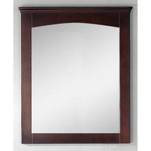 30-in. W X 31.5-in. H Modern Plywood-Veneer Wood Mirror In Walnut