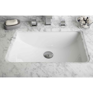 20.75-in. W X 14.35-in. D Rectangle Undermount Sink In White Color