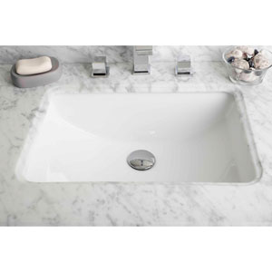 20.75-in. W X 14.35-in. D CSA Certified Rectangle Undermount Sink In White Color