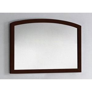 35.43-in. W X 25.6-in. H Modern Birch Wood-Veneer Wood Mirror In Coffee