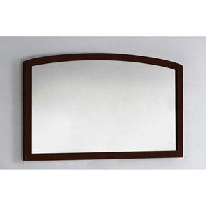 47.24-in. W X 25.6-in. H Modern Birch Wood-Veneer Wood Mirror In Coffee