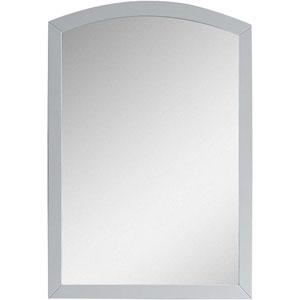 21.65-in. W X 31.5-in. H Modern Birch Wood-Veneer Wood Mirror In White