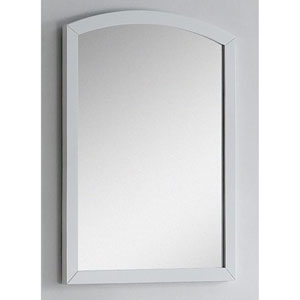 23.62-in. W X 31.5-in. H Modern Birch Wood-Veneer Wood Mirror In White