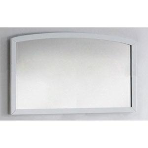 47.24-in. W X 25.6-in. H Modern Birch Wood-Veneer Wood Mirror In White