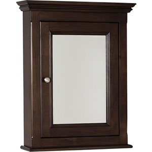 24-in. W X 30-in. H Traditional Birch Wood-Veneer Medicine Cabinet In Walnut