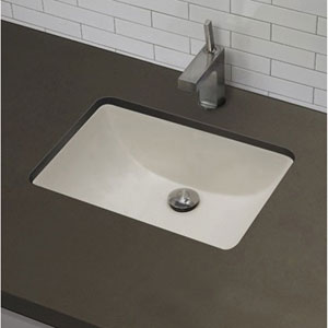 Superbe D Rectangle Undermount Sink In Biscuit Color