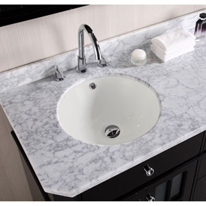 16-in. W X 16-in. D Round Undermount Sink In Biscuit Color