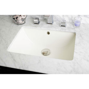 18.25-in. W X 13.5-in. D CUPC Certified Rectangle Undermount Sink In Biscuit Color