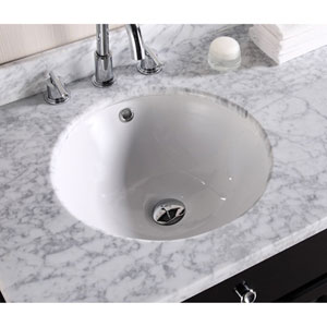 15.75-in. W X 15.75-in. D CUPC Certified Round Undermount Sink In White Color