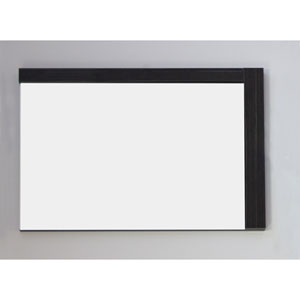 35.5-in. W X 23.5-in. H Modern Plywood-Melamine Wood Mirror In Dawn Grey