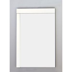 23.5-in. W X 35.5-in. H Modern Plywood-Veneer Wood Mirror In White