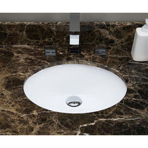 19.5-in. W X 16.25-in. D Oval Undermount Sink In White Color