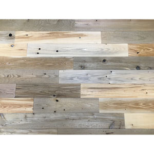 Peel and Stick Reclaimed Natural Wood, 4-Inch Planks