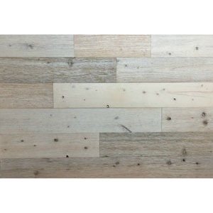 Peel and Stick Reclaimed Coast White Wood, 4 In. Planks