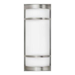 Brio Satin Nickel Eight-Inch One-Light 24 Watts Outdoor Wall Sconce