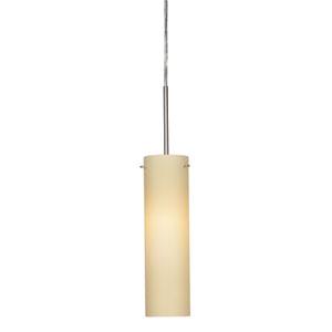Soho Satin Nickel 3000K 120V LED Mini Pendant with Cream Shade