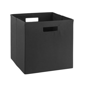 Ellis Black Storage Bin, Pack of 2