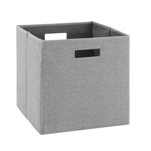 Ellis Grey Storage Bin, Pack of 2