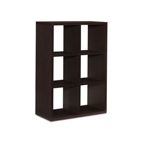 Ellis Espresso Six Cubby Storage Cabinet