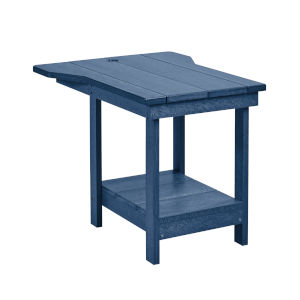 Generation Navy 21-Inch Patio Tete A Tete with Bottom Shelf and Umbrella Hole