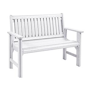 Generations Garden Bench-White