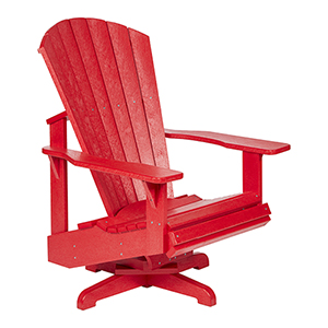 Generation Red Swivel Adirondack Chair